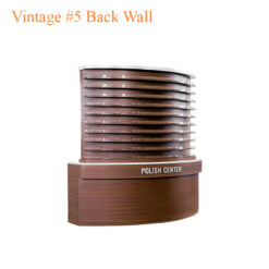 Vintage #5 Back Wall w/Polish Rack – w/LED Light – 75 inches
