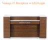 Vintage #4 Reception with LED Light – 60 inches