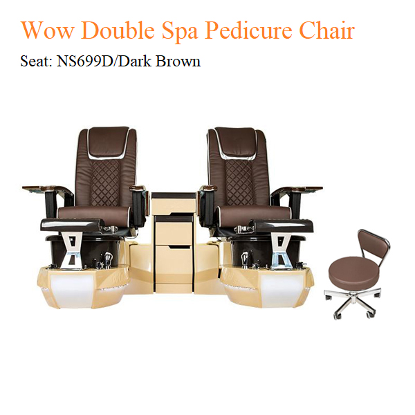 Wow Double Luxury Spa Pedicure Chair with Magnetic Jet and Built-in-Remote