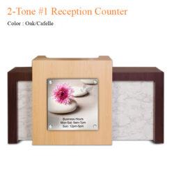 2-Tone #1 Reception Counter – 72 inches