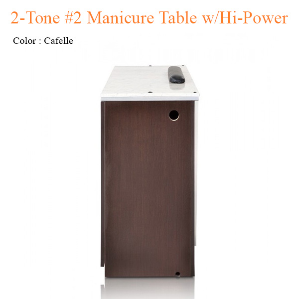 2-Tone #2 Manicure Table with Hi-Power LED Light – 42 inches