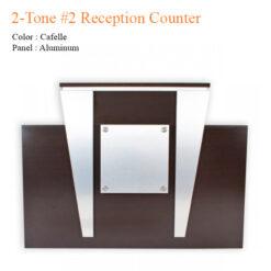 2-Tone #2 Reception Counter – 62 inches