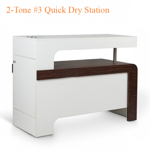 2-Tone #3 Quick Dry Station – White Fino & Guayanna Rose – 58 inches