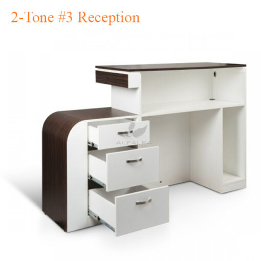 2-Tone #3 Reception – White Fino & Guayanna Rose – 69 inches