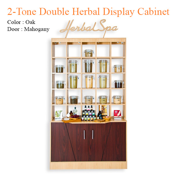 2-Tone Double Herbal Display Cabinet – 84 inches