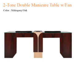 2-Tone Double Manicure Table with Fan – 74 inches