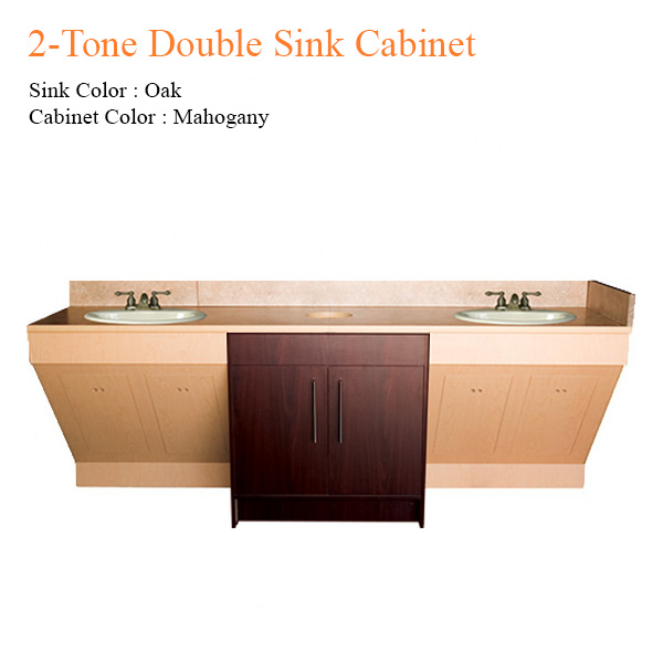 2-Tone Double Sink Cabinet – 96 inches