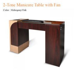 2-Tone Manicure Table with Fan – 42 inches