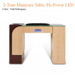 2-Tone Manicure Table with Hi-Power LED Light & Fan – 42 inches