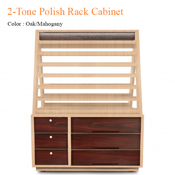 2-Tone Polish Rack Cabinet – 55 inches