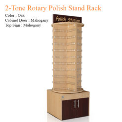 2-Tone Rotary Polish Stand Rack – 72 inches
