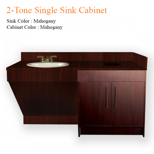 2-Tone Single Sink Cabinet – 72 inches