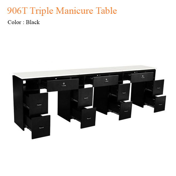 906T Triple Manicure Table – 104 inches