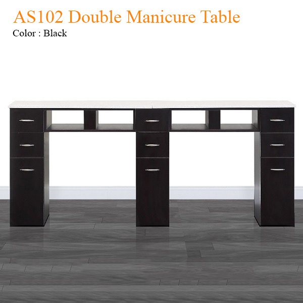AS102 Double Manicure Table – 71 inches