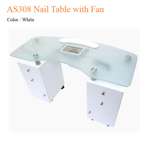 AS308 Nail Table with Fan – 48 inches