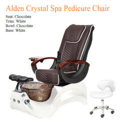 PROMOTION – Alden Crystal Luxury Spa Pedicure Chair with Magnetic Jet – High Quality