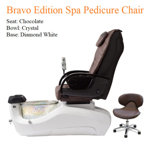 Bravo Luxury Edition Spa Pedicure Chair with Magnetic Jet – American-Made