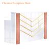 Lux BW Stripes Reception Desk – 96 inches
