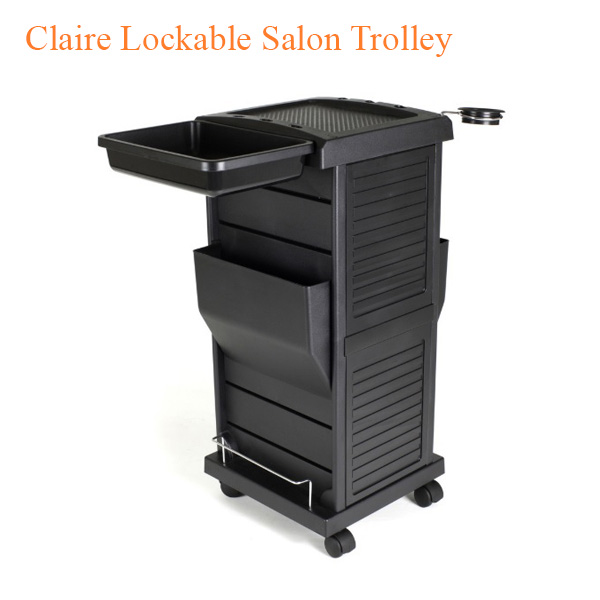 Claire Lockable Salon Trolley – 34 inches