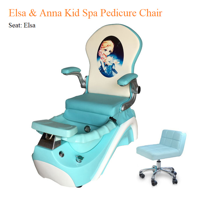 Elsa & Anna Kid Spa Pedicure Chair with Magnetic Jet