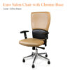 Euro Salon Chair with Chrome Base – 40 inches