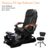 Florence EX Luxury Spa Pedicure Chair with Magnetic Jet – Shiatsulogic Massage System 04