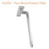 Gs2202 – Paris Bench Footrest T Bar 100x100 - Giá Đỡ Gác Chân T-Bar GS2202 Paris Bench