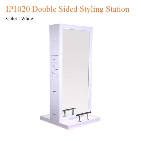 Kệ Tủ Tạo Kiểu Tóc Hai Mặt Kính Double IP1020 – 79 Inches