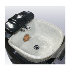 Indy 3D Black and White Spa Pedicure Chair with Magnetic Jet – High Quality