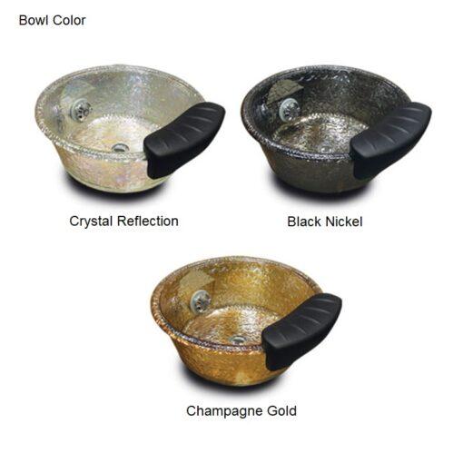 Lenox GS Portable Pedicure Bowl Hard Roc Glass with Magnetic Jet