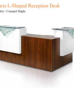 Paris L-Shaped Reception Desk – 69 inches