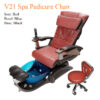 V19 Spa Pedicure Chair with Magnetic Jet – Human Touch Massage System