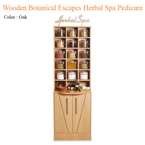 Wooden Botanical Escapes Herbal Spa Pedicure – Intro Kit with Mini Cabinet