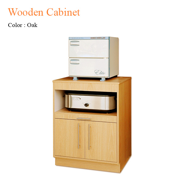 Wooden Cabinet for Hot Stone Heater-Towel Warmer – 35 inches