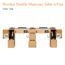 Wooden Double Manicure Table with Fan 74 inches 0 247x247 - Equipment nail salon furniture manicure pedicure