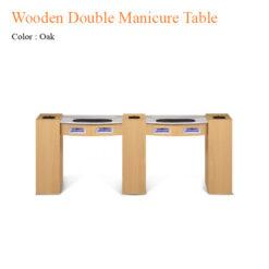 Bàn Nail Đôi Woode Với Đèn Gel UV Và Quạt Sấy – 74 Inches