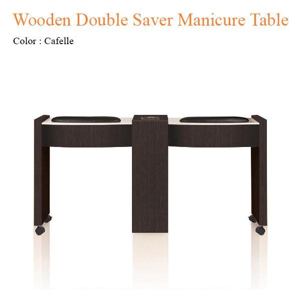 Bàn Nail Đôi Wooden Saver Với Quạt Sấy – 62 inches