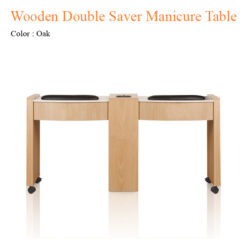 Wooden Double Saver Manicure Table with Fan 62 inches 247x247 - Equipment nail salon furniture manicure pedicure