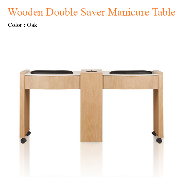Wooden Double Saver Manicure Table with Fan – 62 inches