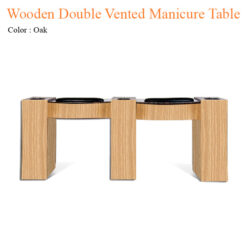 Wooden Double Vented Manicure Table with Fan 74 inches 247x247 - Equipment nail salon furniture manicure pedicure
