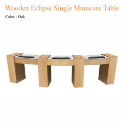 Wooden Eclipse Single Manicure Table with Fan 42 inches 247x247 - Equipment nail salon furniture manicure pedicure