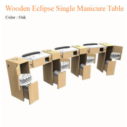 Wooden Eclipse Single Manicure Table with Fan 42 inches 6 247x247 - Equipment nail salon furniture manicure pedicure