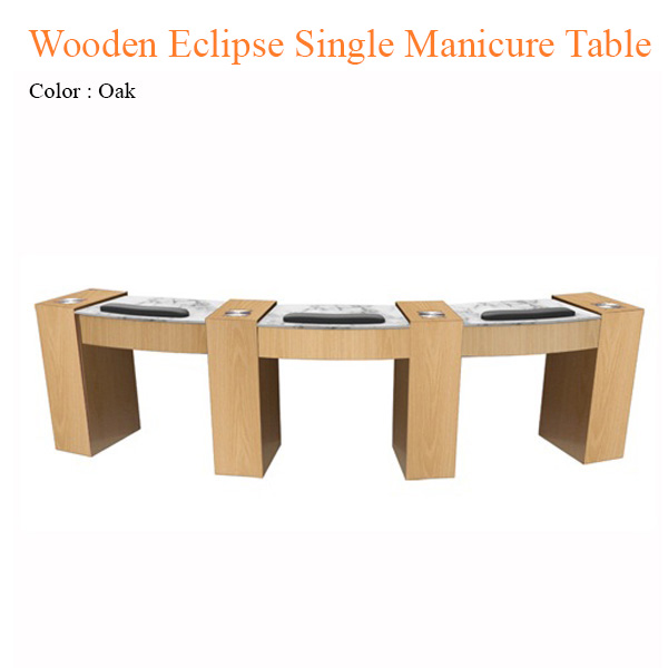 Wooden Eclipse Single Manicure Table with Fan – 42 inches