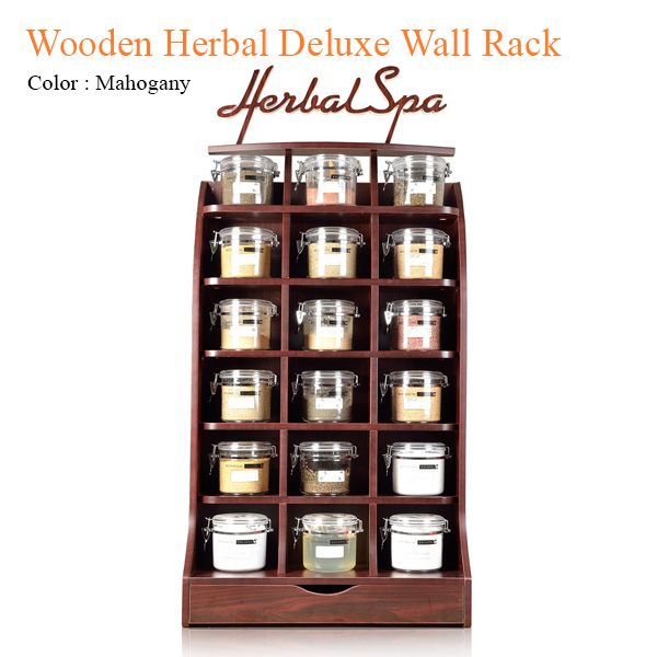 Wooden Herbal Deluxe Wall Rack – 78 inches