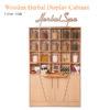 Tủ Trưng Bày Herbal Wooden – 73 Inches