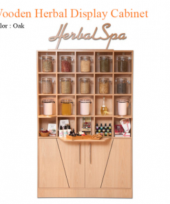 Wooden Herbal Display Cabinet – 73 inches