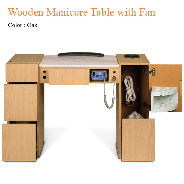 Wooden Manicure Table with Fan – 42 inches