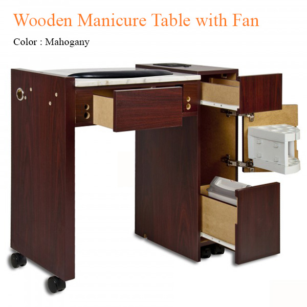 Wooden Manicure Table With Fan 42 Inches Salondepot Com