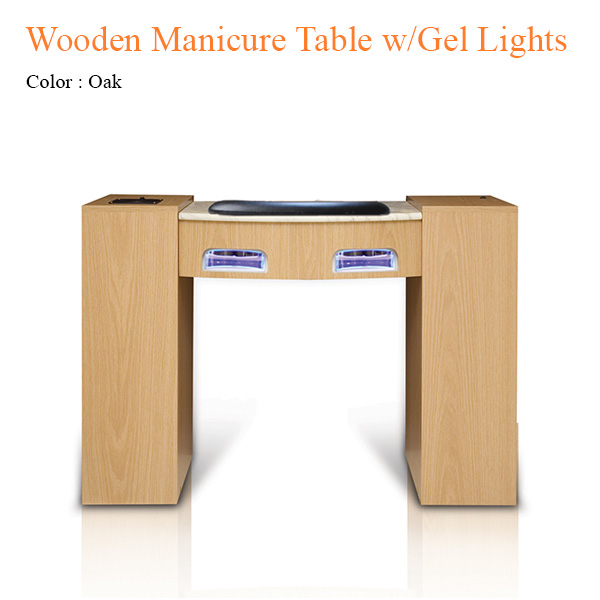 Wooden Manicure Table with Gel Lights & Fan – 42 inches