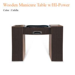 Wooden Manicure Table with HI Power LED Light Fan 42 inches 247x247 - Thiết bị đồ nội thất tiệm nail làm móng tay móng chân